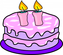 Cake With 2 Candles Clip Art at Clker.com - vector clip art online ...