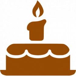 Brown birthday cake icon - Free brown cake icons