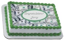 Money 100 Dollar Bills Cash Moolah Edible Frosting Icing Sheet Party ...