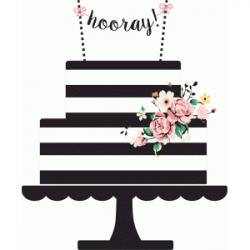 Silhouette Design Store - View Design #91505: hooray cake