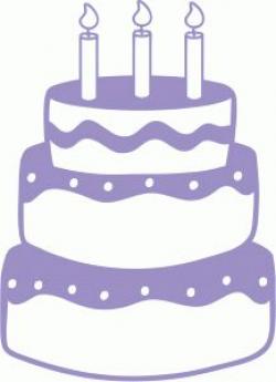 Silhouette Online Store - View Design #46611: birthday cake ...