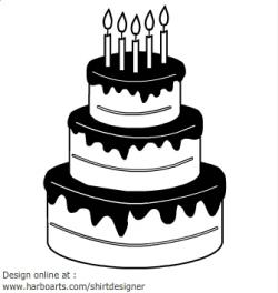 Cake Silhouette Clipart