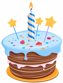 Birthday Cake Drawing Blue transparent PNG - StickPNG