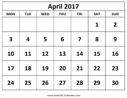 Print April 2017 Calendar Adorable Monthly   mightymic.org