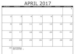 April 2017 Calendar USA ClipArt - Calendar And Images