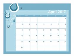 April 2017 Calendar Clip Art - Calendar And Images