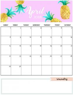 April 2018 Calendar Cute | calendar month printable