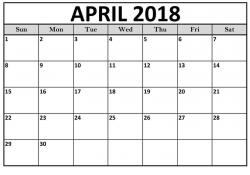 April 2018 Calendar Printable with PDF Format | Free Printable ...