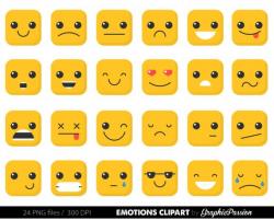 Emotion clipart, feelings clipart Faces Collage Sheet Emoji Calendar ...
