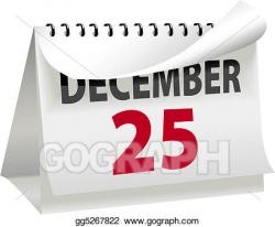 Vector Art - Calendar turns a page to christmas december 25. Clipart ...
