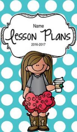 Lesson Plan Book & Planner {Brown Hair: Blue Polka Dot} | Legal size ...