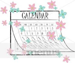Spring Calendar Clipart | Calendar Menu Graphics