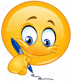 Emoticon Writing Royalty Free Cliparts, Vectors, And Stock ...
