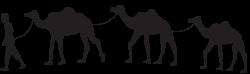 Camel Caravan Silhouette PNG Clip Art | Gallery Yopriceville - High ...