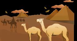 Sahara Camel Arabian Desert Clip art - Egyptian desert camel ...