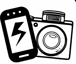 Clipart - mobile & camera