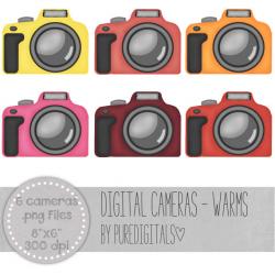 Camera Clip Art, Camera PNG, Digital Scrapbooking, Photography ...