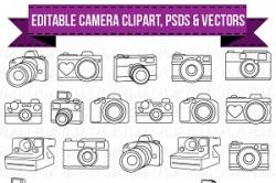 Camera clipart Photos, Graphics, Fonts, Themes, Templates ~ Creative ...