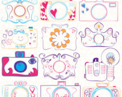 BEST SELLER Hand Drawn Photography Camera Doodle Clip Art