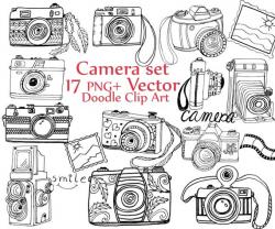Doodle Camera clipart: