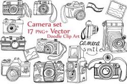 Doodle camera clipart ~ Illustrations ~ Creative Market