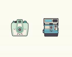 Premium Vector Clipart - Kawaii Camera Clipart - Kawaii Cameras Clip ...