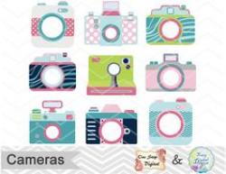 Cute Camera Clip Art CAMERA CLIP ART Retro by MoonberryDigitalArt ...