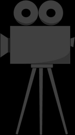 Old Fashioned Movie Camera Clipart