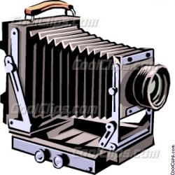 Old fashioned camera Vector Clip art