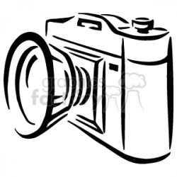Royalty-Free A Black and White Simple Camera 156272 vector clip art ...