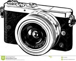 Vintage Camera Clip Art Black And White Beautiful Antique Camera ...