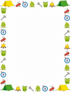 A page border with a camping theme. Free downloads at http ...