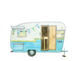 FREE VINTAGE CAMPER CLIP ART | Travel Trailer Art & gifts for those ...