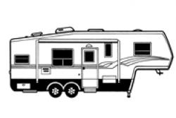 5th Wheel Camper Clipart