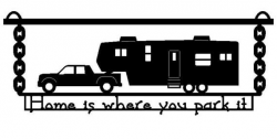 5th Wheel Camper Clipart Image | camping | Pinterest | Clipart ...