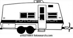 Image result for camper clipart black white | Camping Clipart, Decor ...