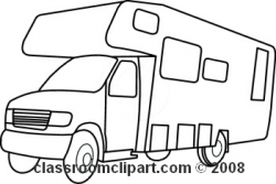 Camper Clipart Black And White | Clipart Panda - Free Clipart Images
