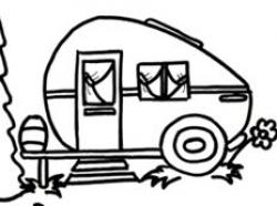 Happy Camper Clipart+Pattern set - Illustrations - 4   Vinyl ...
