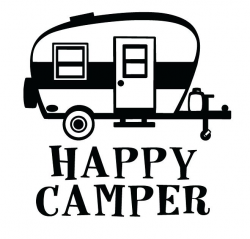 Camper Clipart Black And White - ClipartUse