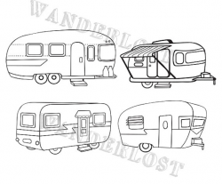 Pin by Etsy on Products | Shasta trailer, Clip art, Airstream