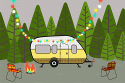 Camper clipart trailer park - Pencil and in color camper clipart ...