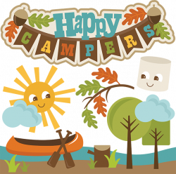Happy Campers SVG cut files camping svg file canoe svg file ...