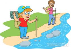 summer camper hiking near stream | miumiucooking