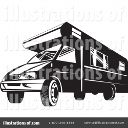 Camper Clipart #1136228 - Illustration by patrimonio