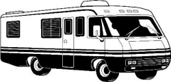 Cartoon RV Motorhome Clip Clipart | RV's / CAMPER VANS / CARAVANS ...