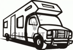 Motorhome Clipart Black And White - Letters