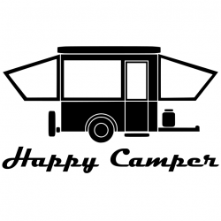 Happy Popup Camper without Windows - Black from Mak'n Decals for ...
