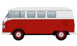 Red Volkswagen Camper Van Clipart transparent PNG - StickPNG
