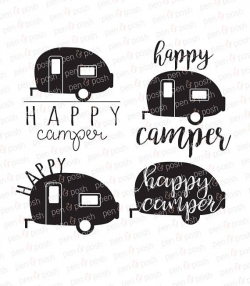 Happy Camper SVG - Camper SVG - Camping SVG - Happy Camper Clip Art ...