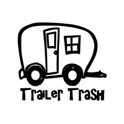 Trailer Trash - Camping Travel Trailer Park RV Vinyl Decal Sticker ...